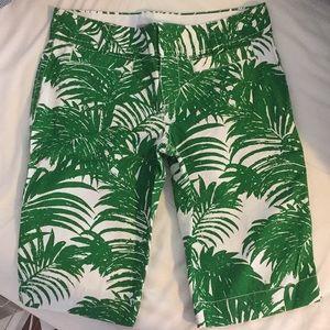 Palm Tree Print Bermuda Board Shorts